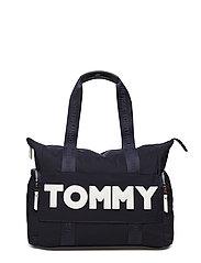 TOMMY NYLON TOTE - TOMMY NAVY
