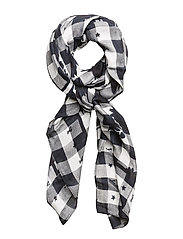 TROPHY FLORAL SQUARE - TOMMY NAVY