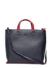 TOMMY CHAIN TOTE - TOMMY NAVY