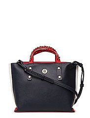TOMMY CHAIN SM TOTE - TOMMY NAVY