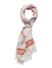 TOMMY NATURAL SCARF - ORANGE MIX