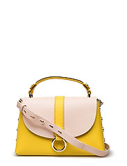 HARDWARE LEATHER CROSSOVER - BUTTERCUP/ SILVER PEONY