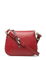 STITCH LEATHER CROSSOVER - TOMMY RED