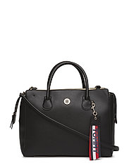 CHARMING TOMMY SATCHEL - BLACK/ GOLD