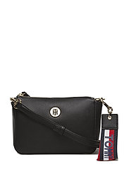 CHARMING TOMMY FLAP CROSSOVER - BLACK/ GOLD