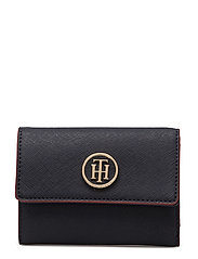 HONEY MED FLAP WALLET - TOMMY NAVY/ RED EDGE PAINT