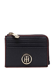 HONEY ZIP CARD HOLDER - TOMMY NAVY/ RED EDGE PAINT