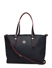 HONEY MED TOTE - TOMMY NAVY/ RED EDGE PAINT