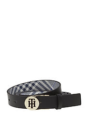 ROUND BUCKLE REVERSIBLE 2.5 - BLACK/ POW CHECK