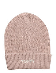 EFFORTLESS KNIT BEANIE - SILVER PINK