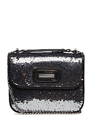 TURN LOCK XOVER SQUI - SILVER SEQUINS