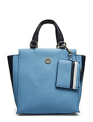 Effortless Saffiano Bags Top Handle Bags Blå TOMMY HILFIGER