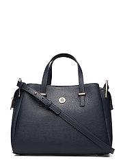 Th Core Satchel Bags Top Handle Bags Svart TOMMY HILFIGER