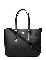 Modern Hardware Med Bags Top Handle Bags Svart TOMMY HILFIGER