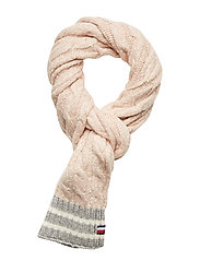 CABLE KNIT SCARF, TF - SEPIA ROSE