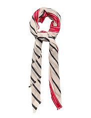 SELVEDGE STRIPE SCARF ROPE - NATURAL