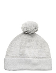 TJW SEASONAL LUREX BEANIE - PALE GREY HEATHER