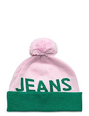 TJW SEASONAL LUREX BEANIE - PINK MIX