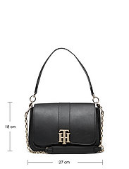 Tommy Hilfiger - TH LOCK SATCHEL - shoulder bags - black - 5