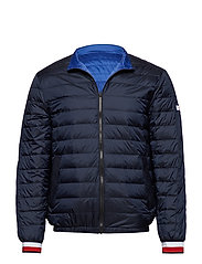 REVERSIBLE NYLON DOWN JACKET - SKY CAPTAIN