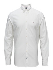 DIAMOND DOBBY SHIRT - BRIGHT WHITE