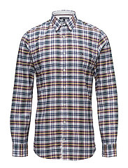 MULTI COLORED CHECK SHIRT - PARISIAN BLUE / FOREST BIOME /