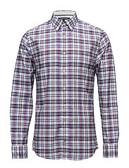 MULTI COLORED CHECK SHIRT - HAUTE RED / STRONG BLUE / MULT