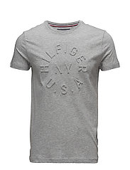 EMBOSSED GRAPHIC TEE - CLOUD HTR