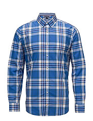 LARGE MULTI CHECK SHIRT - STRONG BLUE / MULTI