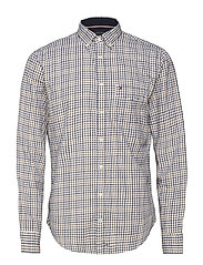 SMALL CHECK FLANNEL SHIRT - DIJON / BLACK IRIS