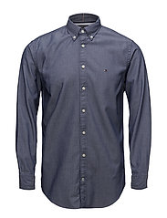 TWO TONE DOBBY SHIRT - MEDIEVAL BLUE