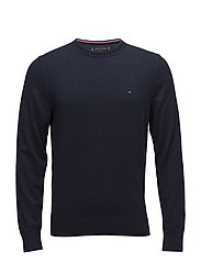 PIMA COTTON CASHMERE CNECK - SKY CAPTAIN HEATHER