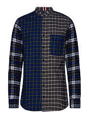 LEWIS HAMILTON CHECK MAO SHIRT - SODALITE BLUE / MULTI