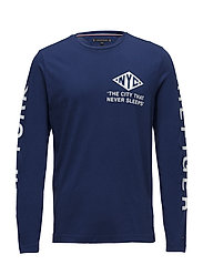NYC LONG SLEEVE FASHION FIT TEE - BLUE DEPTHS
