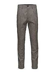 TAPERED CROPPED POW CHECK PANT - JET BLACK