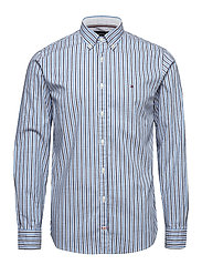 HEATHER OXFORD STRIP - SHIRT BLUE  / MULTI