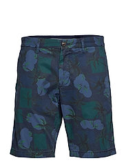 BROOKLYN SHORT LT TWL PALM PRINT - NIGHT SKY