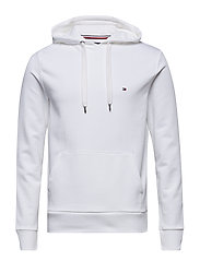 GLOBAL STRIPE RIB INSERT HOODY - BRIGHT WHITE