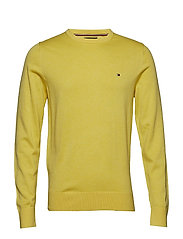 COTTON SILK CREW NECK - LEMON ZEST HEATHER