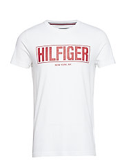BOX HILFIGER TEE - BRIGHT WHITE