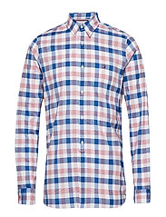 SLIM GRID CHECK SHIRT - HAUTE RED / MULTI