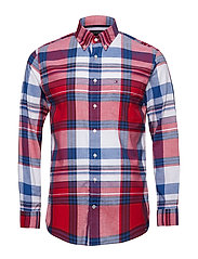 LARGE SCALE CHECK SHIRT - HAUTE RED / MULTI
