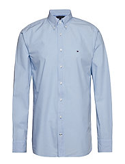 GARMENT DYED POPLIN SHIRT - CHAMBRAY BLUE