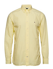 GARMENT DYED POPLIN, - LEMON MERINGUE
