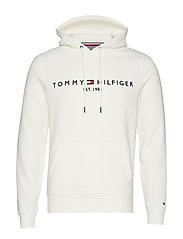 TOMMY LOGO HOODY - SNOW WHITE