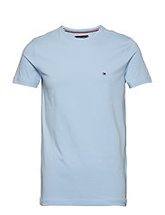 STRETCH SLIM FIT TEE - CHAMBRAY BLUE