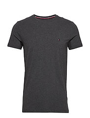 STRETCH SLIM FIT TEE - CHARCOAL HEATHER