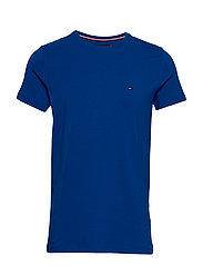 STRETCH SLIM FIT TEE - COBALT