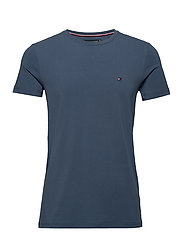 STRETCH SLIM FIT TEE - FADED INDIGO