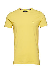 STRETCH SLIM FIT TEE - YELLOW CREAM